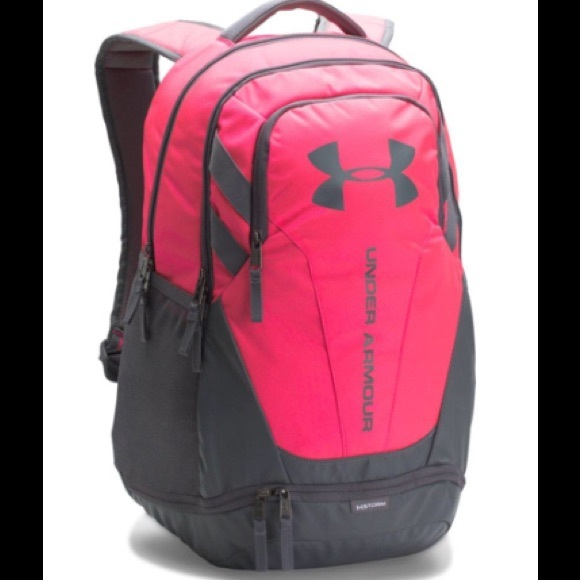 Under Armour Bags   Ua Storm Hustle 30 Backpack Pink Gry   Poshmark fc50c0e9f5
